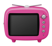 GREEN HOUSE 8.9cm TV type digital photo frame Pink