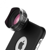 Aukey Optic Pro Lens, Wide Angle Cell Phone Camera Lens Kit with iPhone Case and Clip, 2X More Landscape, No Distortion, No Dark Circle, Case for iPhone 6Plus/6SPlus and Clip for Other Smartphones