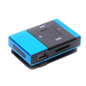 Perman Mini Portable USB 2.0 Clip Digital MP3 Music Player Rechargeable Support 8GB SD TF Card Blue