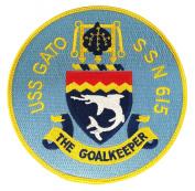 USS Gato SSN-615 Patch