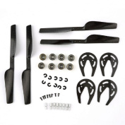 Tonsee Carbon Fibre Propeller & Gear Guard & Bearing for Parrot AR Drone 1.0 & 2.0