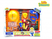 .  my Dads tools from Little Treasures Worker man pretend & play toys Large Tool Set with Hard Hat realistic looking playset