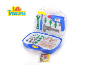 Deluxe tool series from Little Treasures 21 piece pretend and play tools play set in carry case with friction operated drill toy for fixer boys