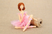 "Soft Handmade Cotton Fabric Doll ""Ballerina"" Home Decorating"