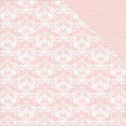 Kaisercraft Back to Basics Double, Sided Cardstock, 30cm by 30cm , 10 Sheets, Pink Damask