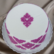 Damask Medallion Silicone Onlay by Marvellous Moulds