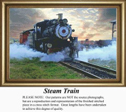 Steam Train, Vintage Counted Cross Stitch Pattern