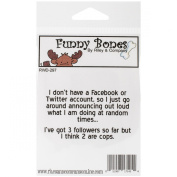 Riley & Company Funny Bones Cling Mounted Stamp, 7cm by 2.5cm , No Facebook