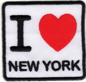 Iron on Patch Embroidered Patches Application I Love New York NY Big Apple Badge Emblem