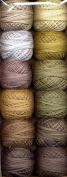 Valdani Size 8 Perle Cotton Embroidery Thread Cottage Garden Earthen Greens Collection