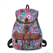 Douguyan Cute Lightweight Casual Backpack for Teenage Girls Women Print Daypack