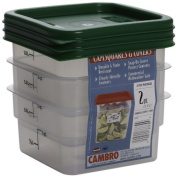 Cambro Set of 3 Square Food Storage Containers with Lids, 1.9l by Cambro