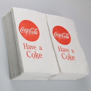 Tablecraft CC380 Coca-Cola Logo Printed Napkins, Full, Red by Tablecraft