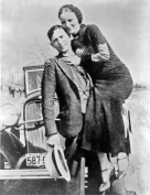 Bonnie and Clyde Art Photo American Gangsters Photos 8x10