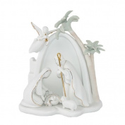 Appletree Design Bethlehem Holy Family Nativity, Lighted, 19cm Tall, Includes Light Bulb and Cord