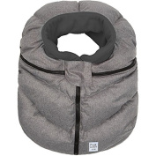 7 A.M. Enfant Cocoon Car Seat Cover-Heather Grey Fleece Lining