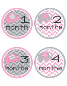 Pink Elephant Baby Belly Stickers