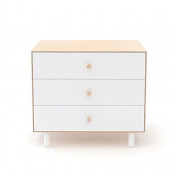 Oeuf Merlin 3 Drawer Dresser with Fawn Base (Box 2), White