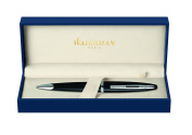 Waterman Carene Black Lacquer Silver Trim Ball Pen - Gift Boxed