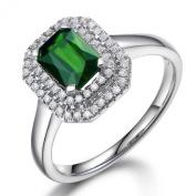 Cyber Monday Black Friday Sale 2015 Prime Deals Elegant Fine Jewellery Natural Green Tourmaline 14K White Gold Diamond Engagement Wedding Ring Set for women