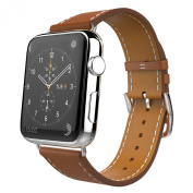 Apple Watch Band, MoKo Luxury Genuine Leather Smart Watch Band Strap Single Tour Replacement for 42mm Apple Watch Models, BROWN