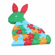 Wooden Kid Games alphabet puzzle Toys Building Blocks Kids Puzzle Block Building Games 26 English Alphanumeric Children Educational Toys