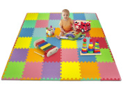 Matney® Foam Mat Puzzle Piece Play Mat Set with Borders Included- Safe for Kids to Play and Learn - Great for Nurseries, Play Rooms, Gyms, Day Care, Classrooms, Playgrounds Etc. - 36 Tile Pieces And Borders