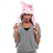 Adorox Women's Bunny Rabbit Short Plush Hat
