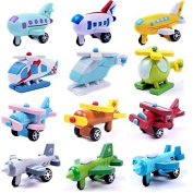Cooling Wood Mini Aeroplane Models Best Baby Learning Educational Toys Kit Best Gifts