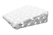 Pregnancy Maternity Large Comfy Back & Bump Support WEDGE Cushion - LIGHT GREY STARS - WITH QUILTED COVER - 30x30cm