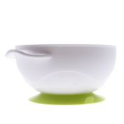 HuaYang Toddler Baby Kids Feeding Non-slip Two-handed Sucker Bowl Spoon Set Tableware Green