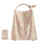 VANKER Soft Cotton Cover Infant Breastfeeding Nursing Blanket Shawl Pack Peacock pink