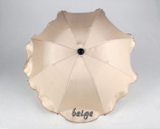 Babys-Dreams Sunshade for Child's Pram Beige Round Diameter 68 cm UV Protection 50+ Awning Sun Protection