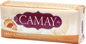 Camay Creme And Apricot Beauty Soap Set Of 3