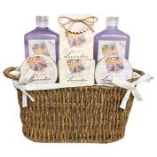 Gloss! Les Belles Fleurs Bird Cage Bath Gift Set, Lavender - 6-Piece