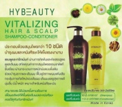 HYBEAUTY VITALIZING HAIR SCALP SHAMPOO AND CONDITIONER NATURAL HERBAL