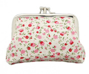 Bigood Women Florets Pattern Exquisite Clasp Wallet Coin Money Purse Card Case