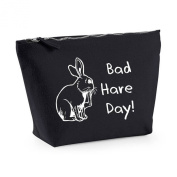 Bad Hare Day Animal Bad Hair Day Parody Fashion Statement Canvas MakeUp Bag Gift Case Cosmetic Clutch
