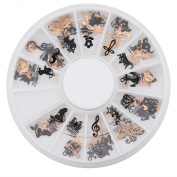 Sanwood® Metal 3D Nail Art Stickers Fashion Slice Decal Foil Wheel for Manicure