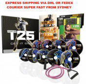 Focus T25 Workout Training DVD Set w Resistance Band | EXPRES SHIPPING VIA DHL OR FEDEX COURIER