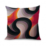 wendana Beautiful 3D Pattern Zippered Throw Pillow Covers Decorative Pillow Cover 18 x 18 Accent Pillow Covers for Sofa