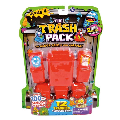 """Trash Pack Series 4, 12 Pack (Inc. 2 Special Edition """"Biter"""") Trashies"""