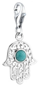 Nenalina Fatima Charm Pendant in 925 Sterling Silver finish triple loop carrier 712087-019 for all standard