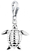 Charm Pendant Turtle Nena Lina in 925er Sterling Silver for Charm Bracelet, Necklace, Earring, Bracelet and Charm Carrier in Many Popular 713150-000