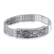 LAMUCH Fit For Mens Fashion Stainless Steel Silver Chain Link Bracelet