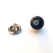 8 ball Lapel Pin Badge / tie pin, in gift box ideal gift
