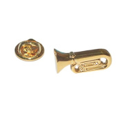 gold plated tuba instrument Lapel Pin Badge / tie pin, in gift box very detailed