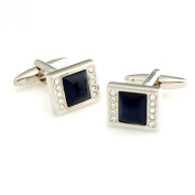 Mens Ladies Formal Wedding Business Cufflinks With Encrusted Stones