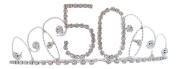 Signature Tiara 50th Birthday Silver with Clear Crystal Tiara