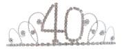 Signature Tiara 40th Birthday Silver with Clear Crystal Tiara